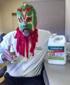 MrBedBug at work in the FLfresh LLC corporate offices.