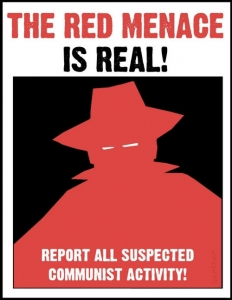 Red Menace poster from the 1950s